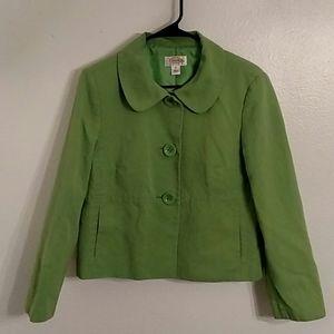 Talbot Apple Green Part Linen Jacket